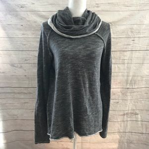 Tops - Free people beach gray funnel neck pullover